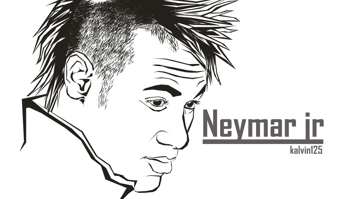 Neymar Ausmalbilder  neymar JR in corel by NSX125kalvin on DeviantArt