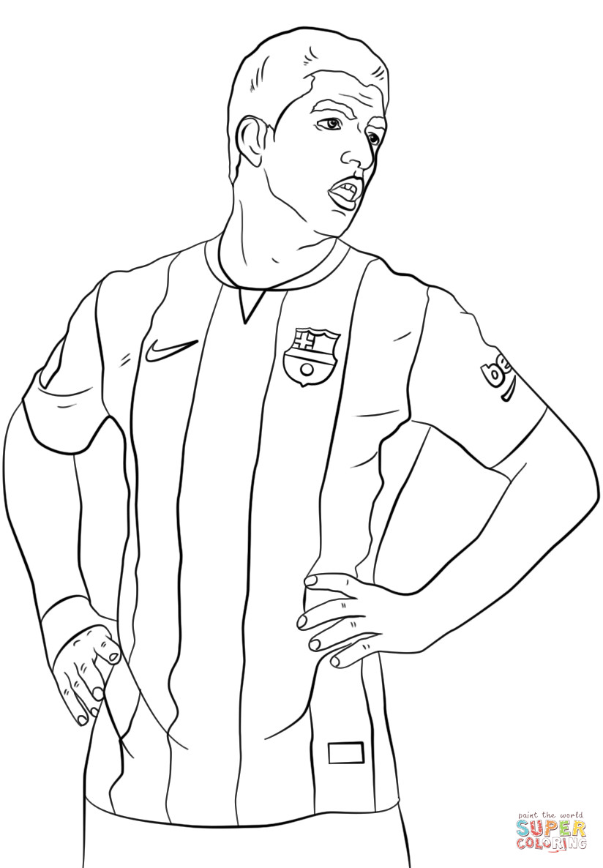 Neymar Ausmalbilder  Dibujo de Luis Suárez para colorear