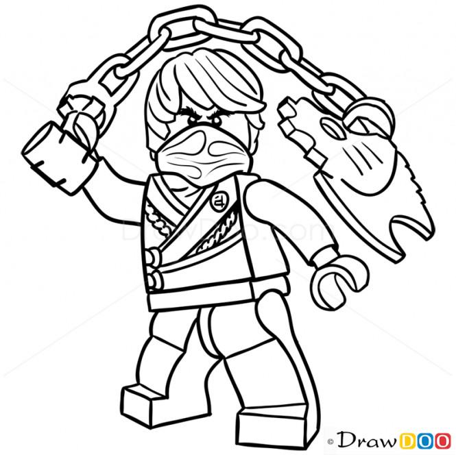 Ninjago Cole Ausmalbilder  How to Draw Cole Lego Ninjago Stuff to Buy