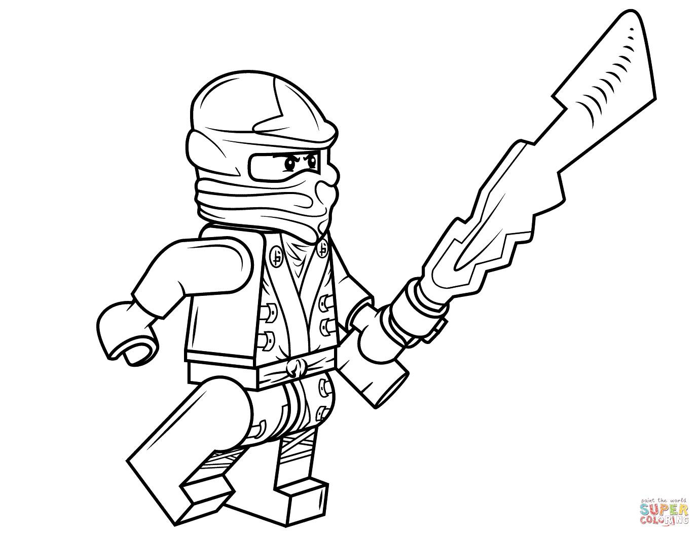 Ninjago Cole Ausmalbilder  Ausmalbild Lego Ninjago Cole