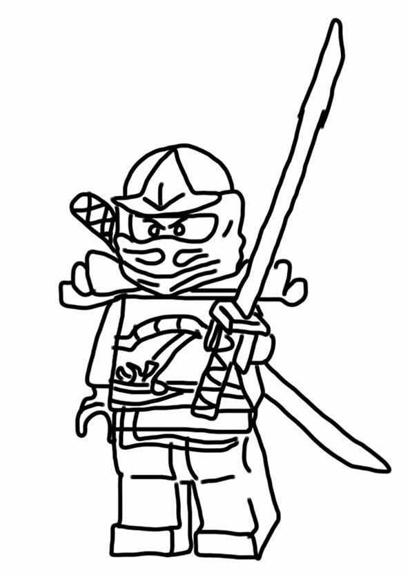 Ninjago Cole Ausmalbilder  Ausmalbilder kostenlos Ninjago 3