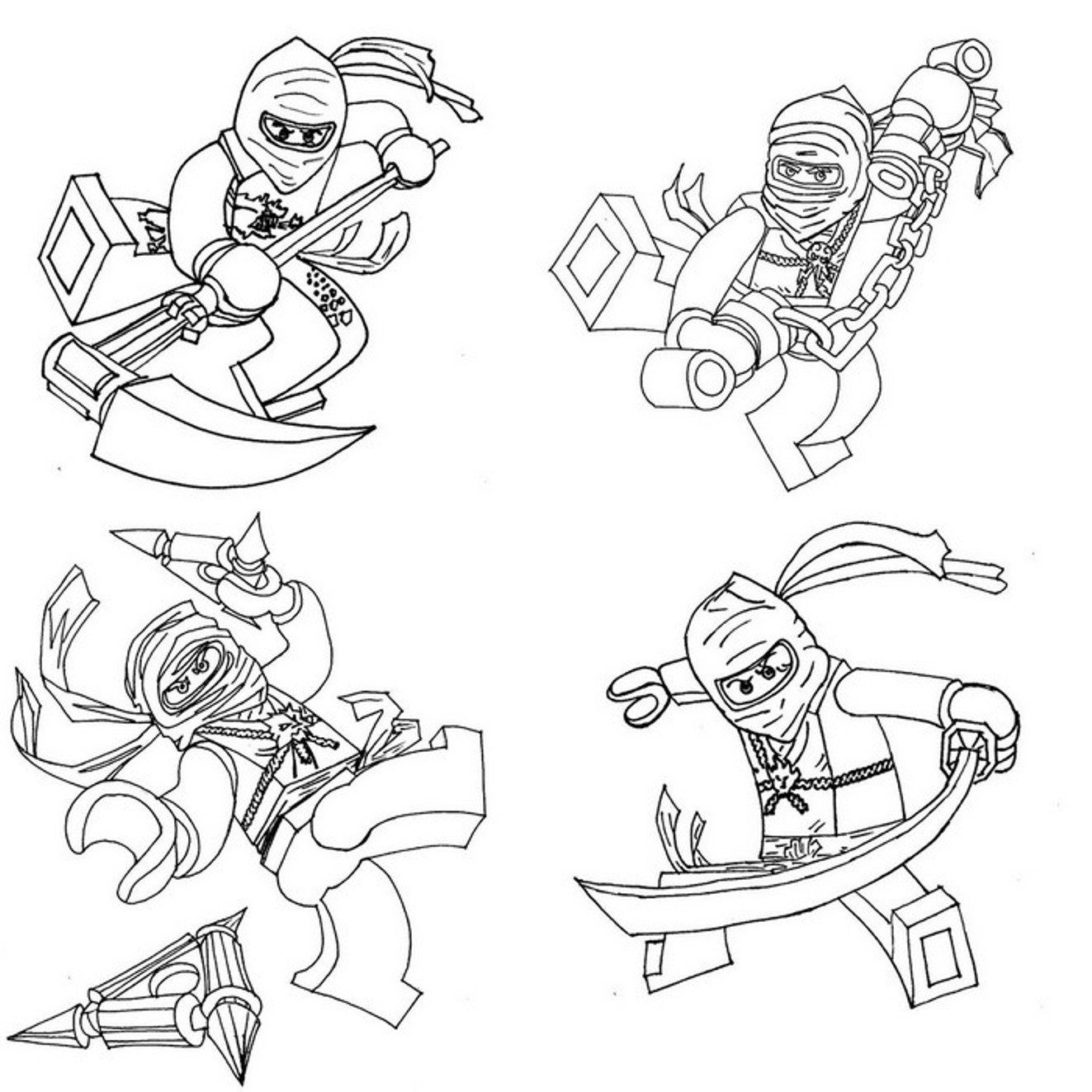 Ninjago Cole Ausmalbilder  Ausmalbilder ninjago kostenlos Malvorlagen zum