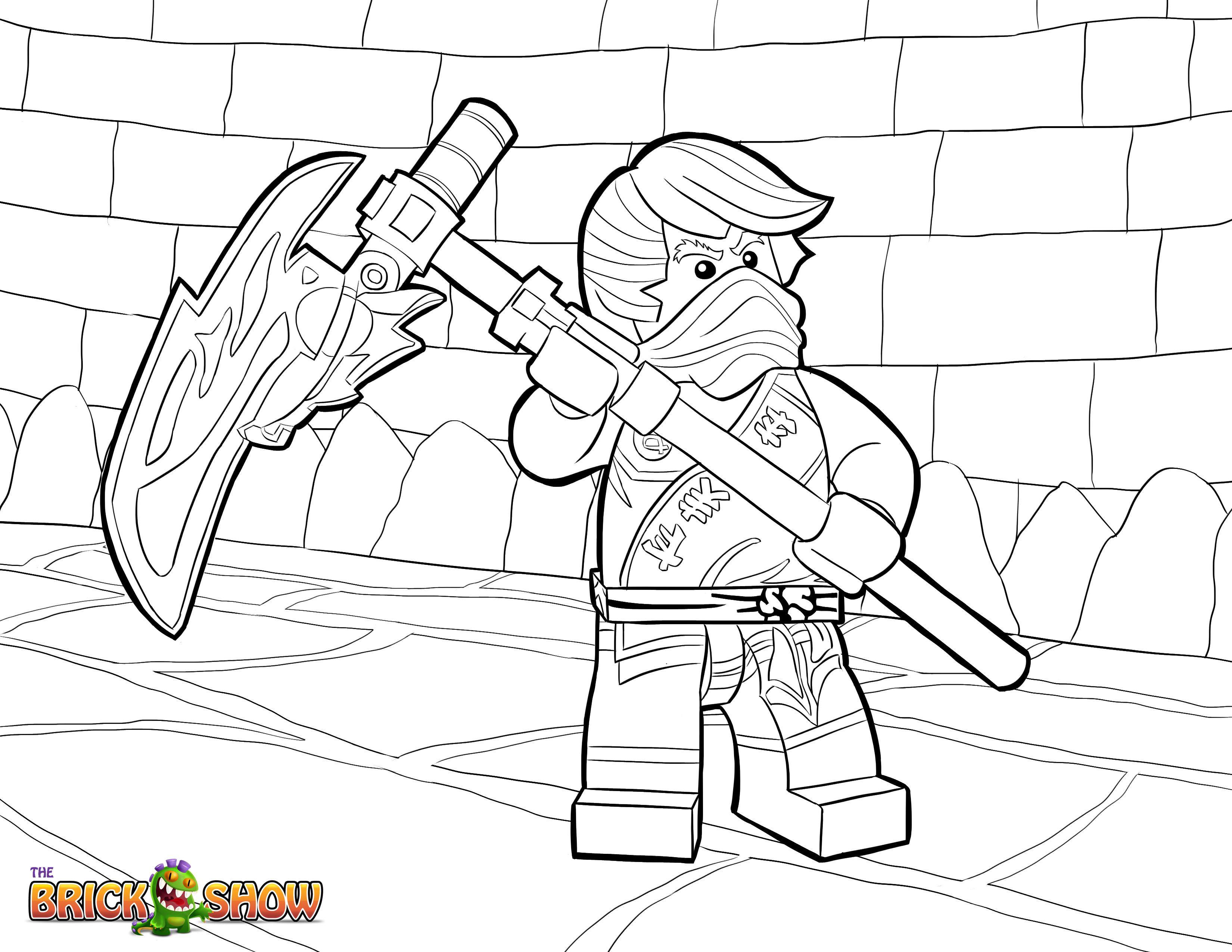 Ninjago Cole Ausmalbilder  LEGO Ninjago Coloring Page LEGO LEGO Ninjago Cole