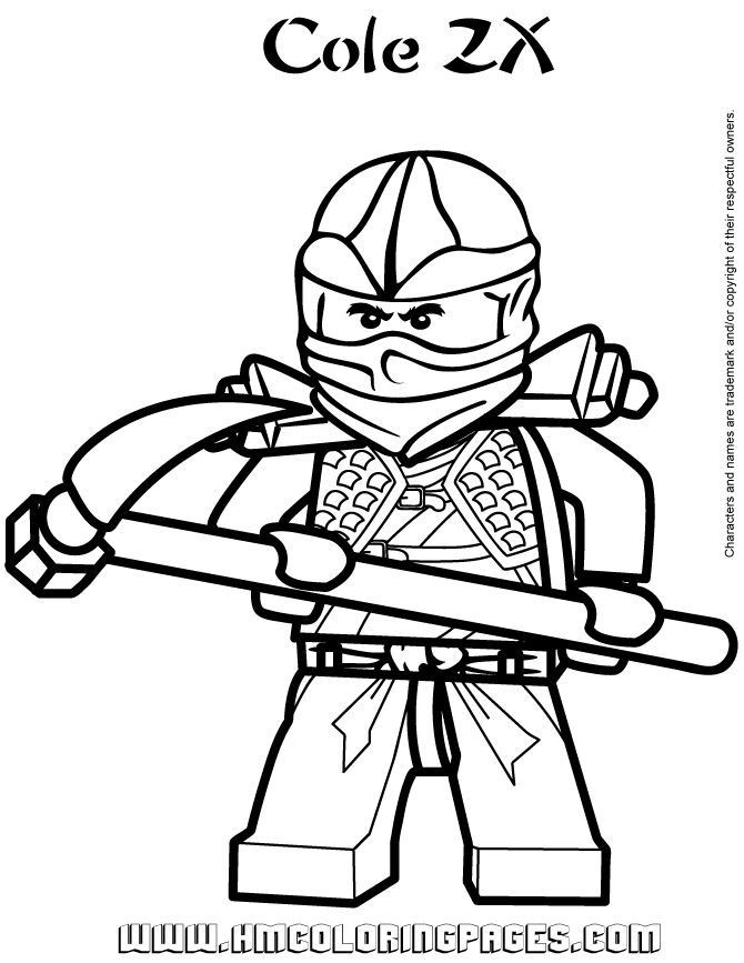 Ninjago Cole Ausmalbilder  Ninjago Cole ZX Coloring Page o
