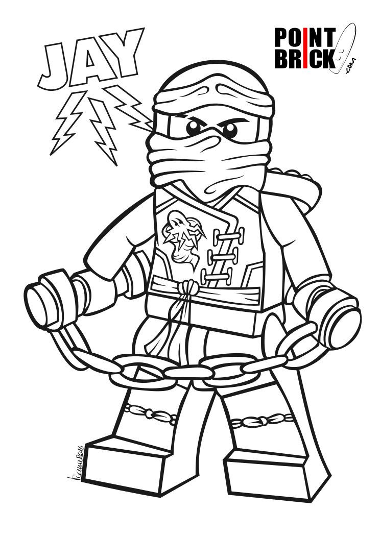 Ninjago Jay Ausmalbilder  Disegni da Colorare LEGO Ninjago Ariel e Sebastian