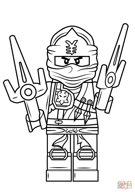 Ninjago Jay Ausmalbilder  Ausmalbild Lego Ninjago Jay Zx