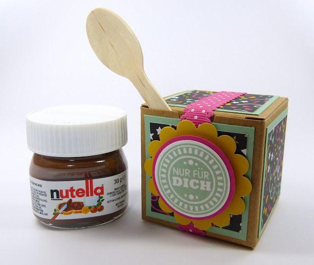 Nutella Glas Diy  Nutella Minis Goo s Kleine Geschenke