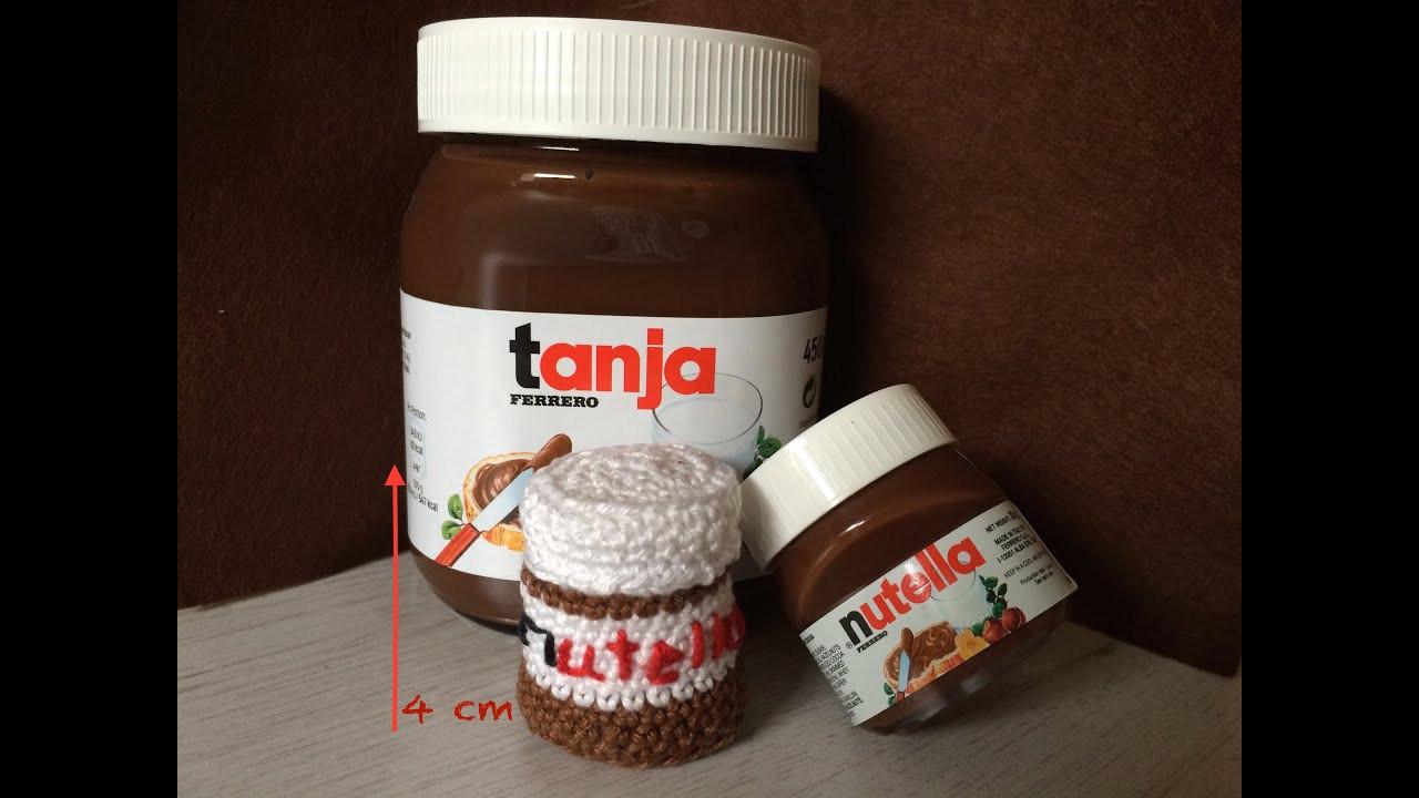 Nutella Glas Diy  Amigurumi Style Nutella Glas häkeln