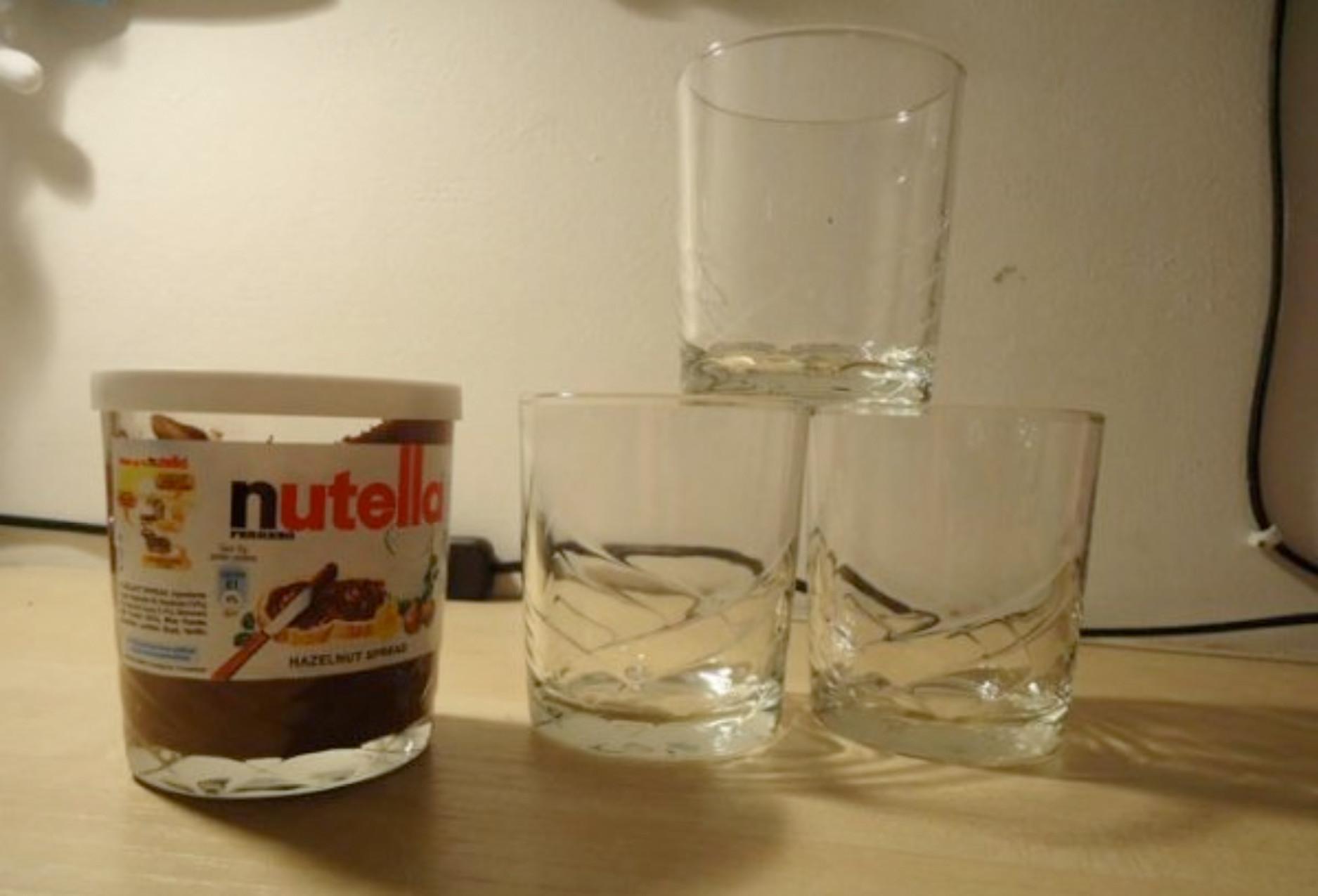 Nutella Glas Diy  Bicchieri della nutella