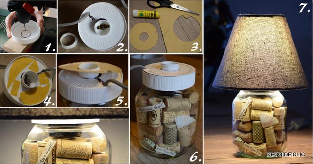 Nutella Glas Diy  The Nutellamp A Nutella Glass & a lampshade – DIY ideas