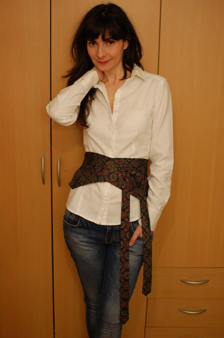 Obi Diy  DIY obi belt with two necktie – Sewing Projects