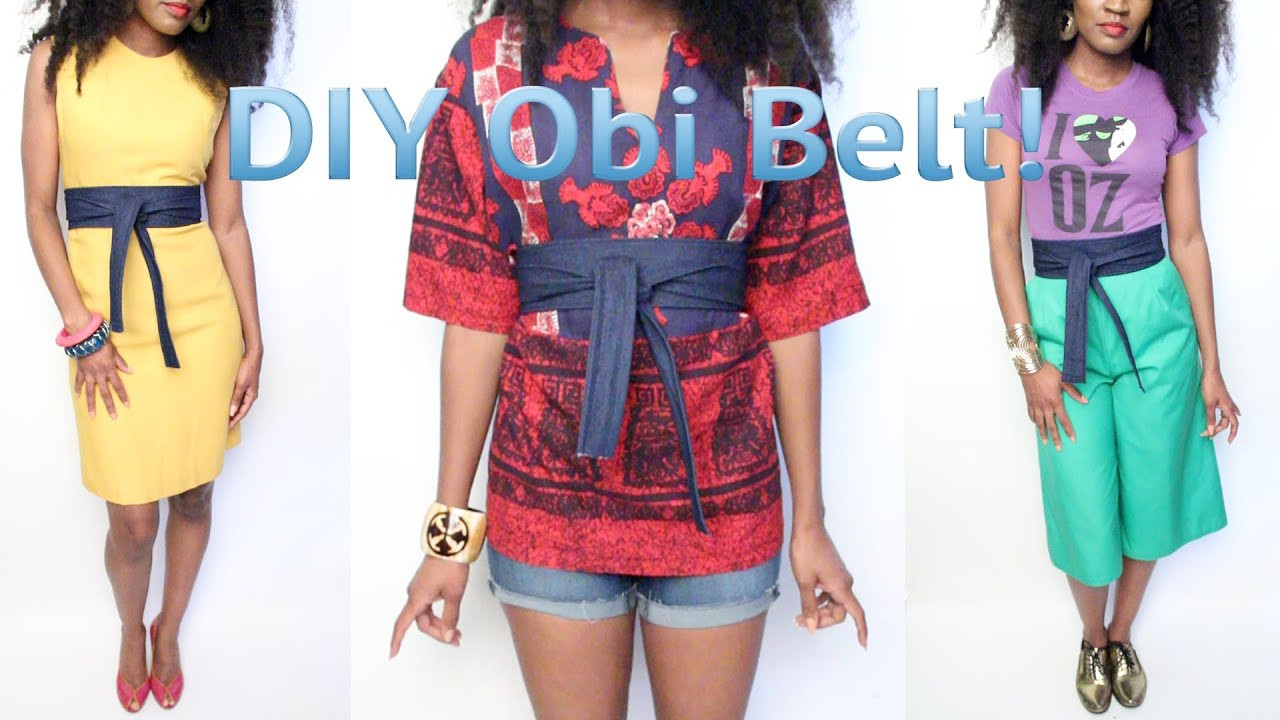 Obi Diy  1 GaudyIsGood How To Make An Obi Belt Out of Old Jeans