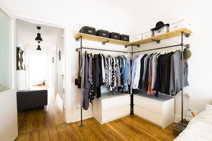Offener Kleiderschrank Diy  Die besten 25 fene garderobe Ideen auf Pinterest