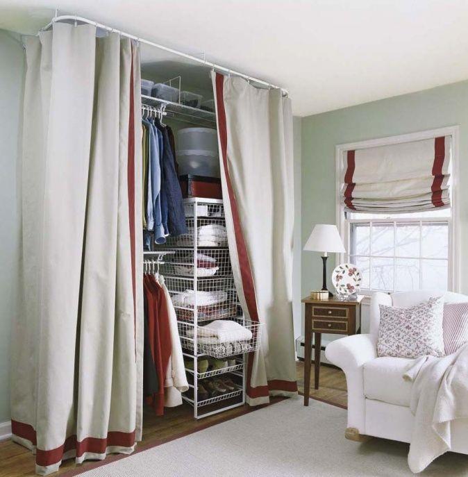 Offener Kleiderschrank Diy  offener Kleiderschrank mit Vorhang Home