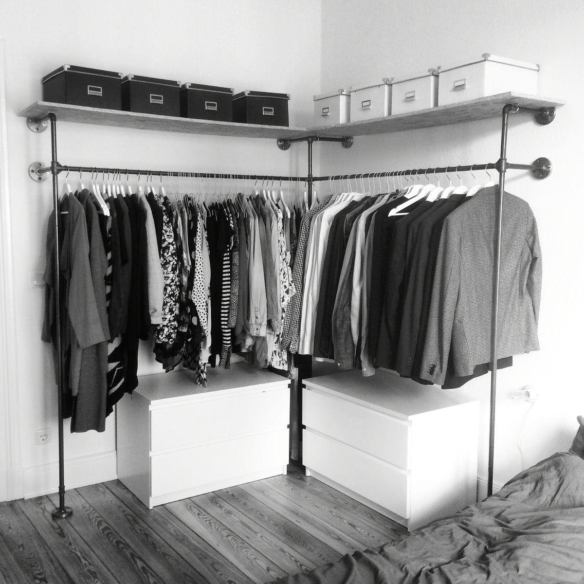 Offener Kleiderschrank Diy  Closet Aberto Veja aqui 22 ideias para te inspirar na