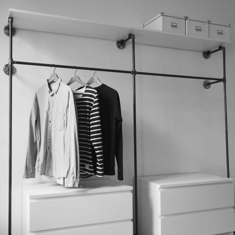 Offener Kleiderschrank Diy  fener Kleiderschrank Open wardrobe offene