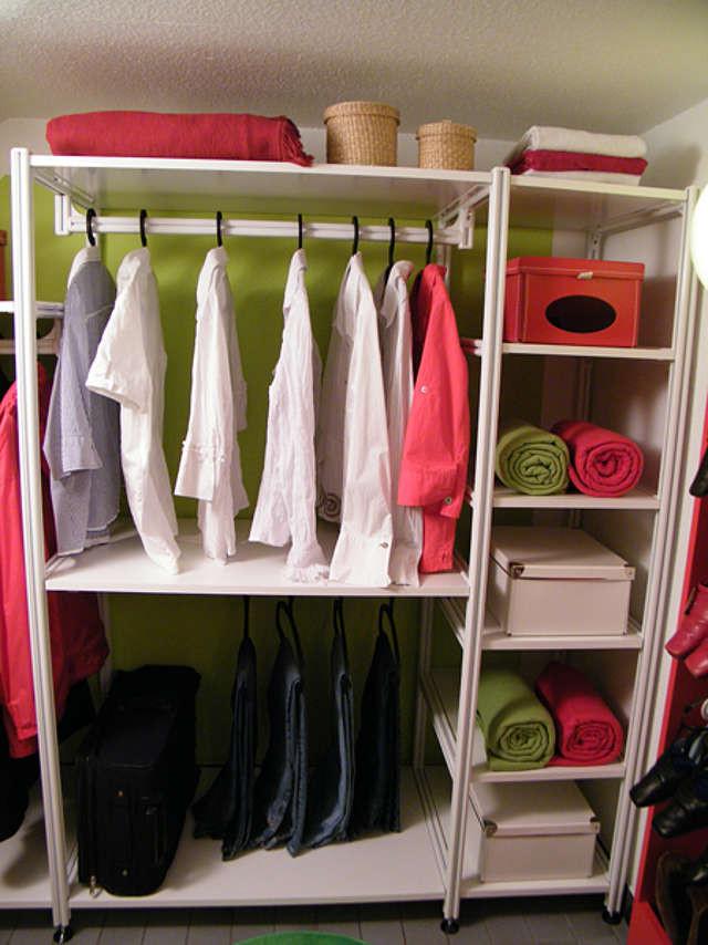 Offener Kleiderschrank Diy  Ordnung mit System Begehbarer Kleiderschrank