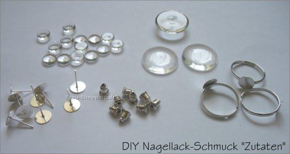 Ohrringe Diy  DIY Nagellack Schmuck
