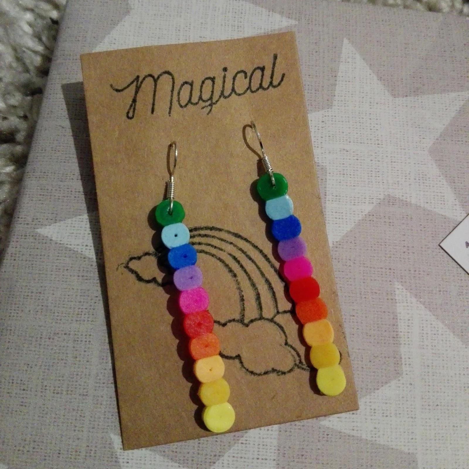 Ohrringe Diy  Lucciola [DIY] Regenbogen Bügelperlen Ohrringe