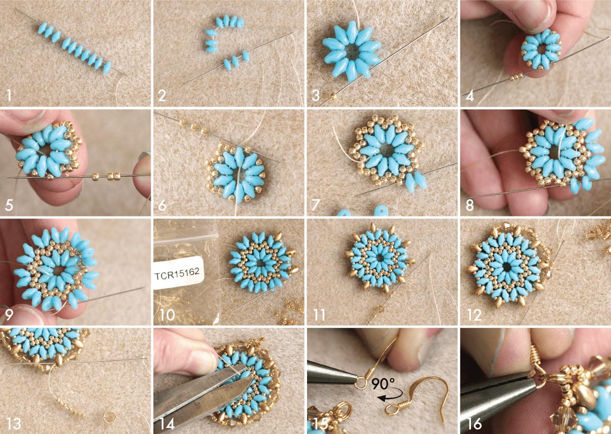 Ohrringe Diy  DIY Mandala Halskette und Ohrringe – I Perlen Blog