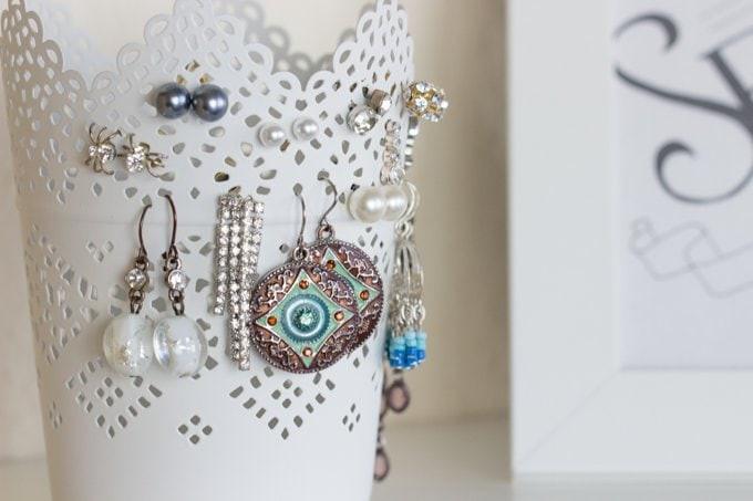 Ohrstecker Aufbewahrung Diy  Ohrringe aufbewahren im Teelichthalter
