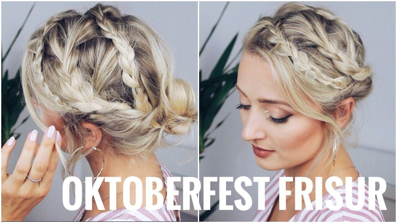 Oktoberfest Frisuren Für Kurze Haare  OKTOBERFEST FRISUR sehr leicht für kurze und lange