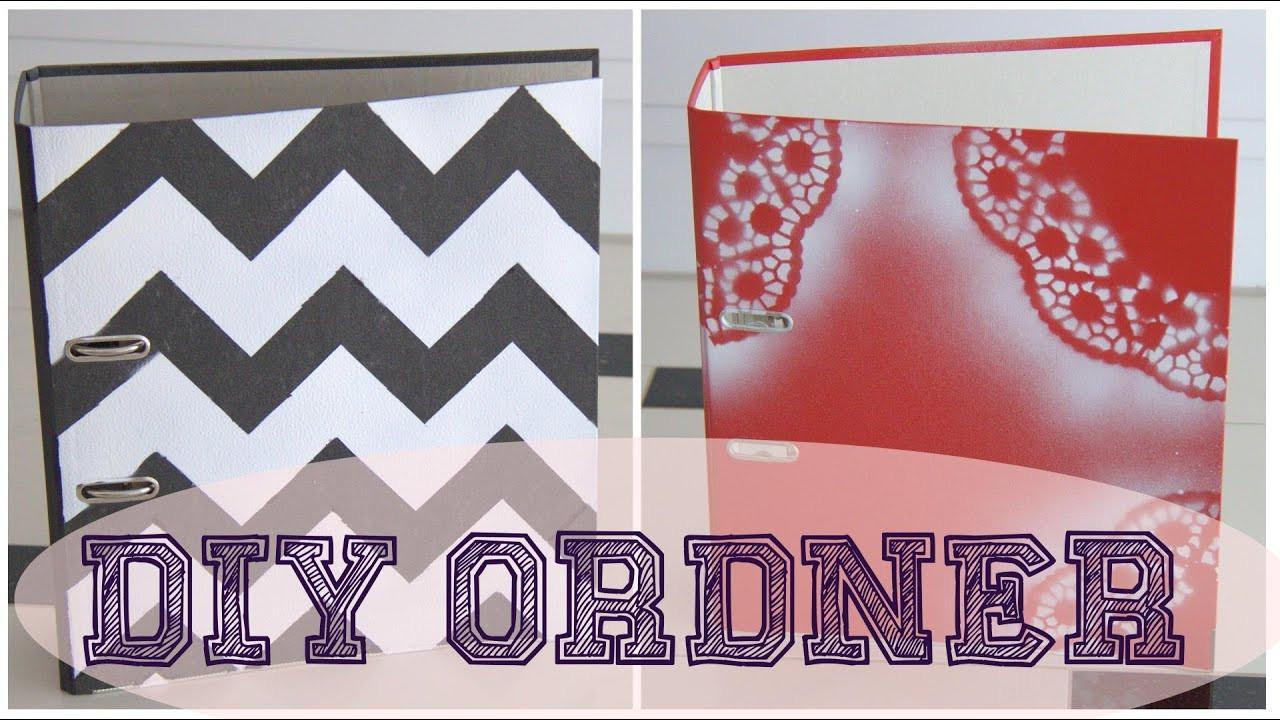 Ordner Diy  SCHOOL DIY ORDNER GESTALTEN ♥