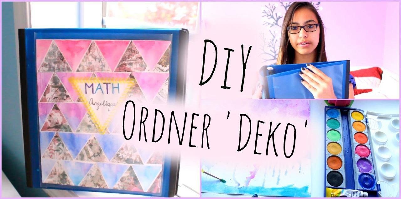 Ordner Diy  backtoschool DIY Ordner Deko ♥