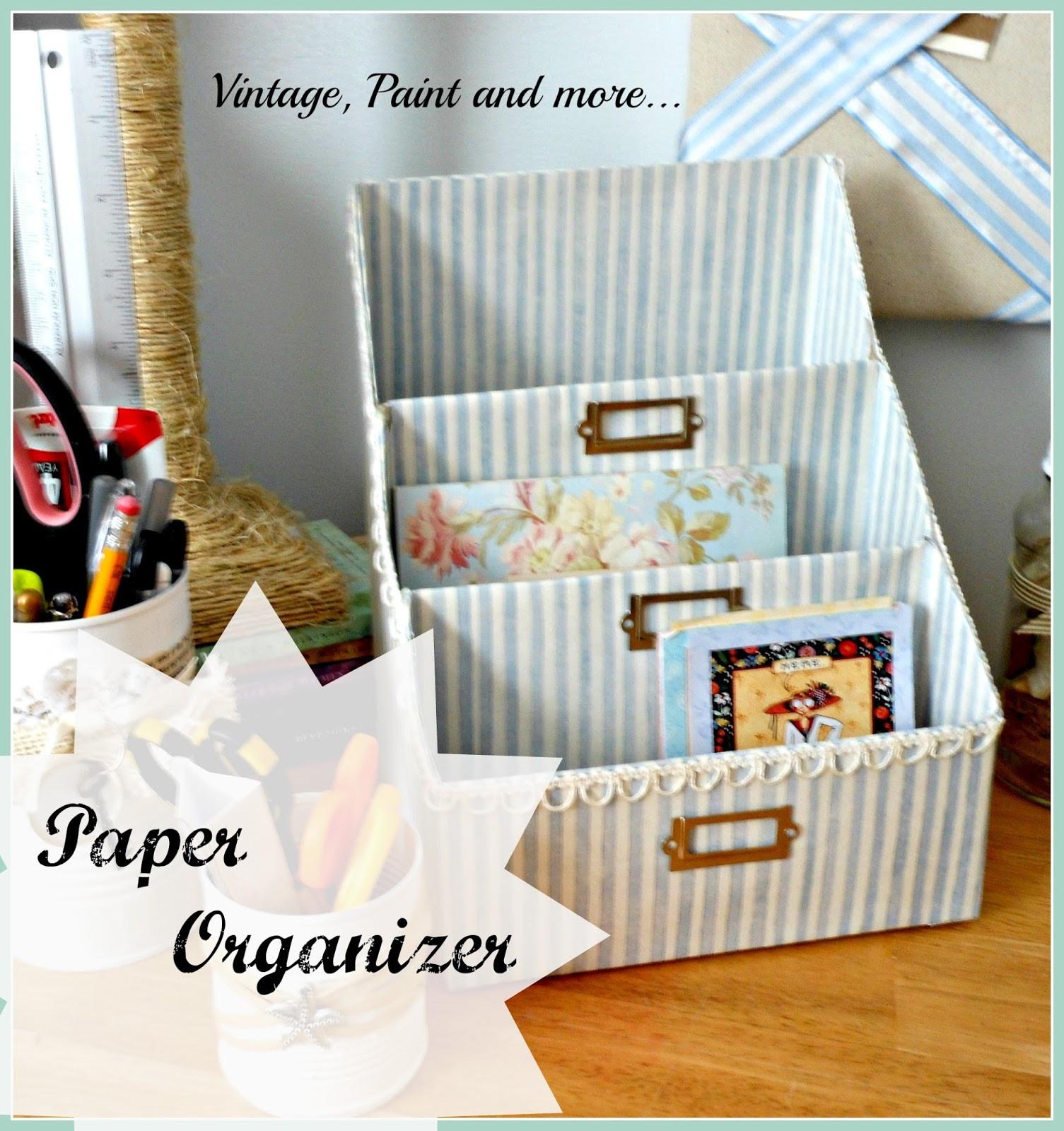 Organizer Diy  DIY Paper Organizer