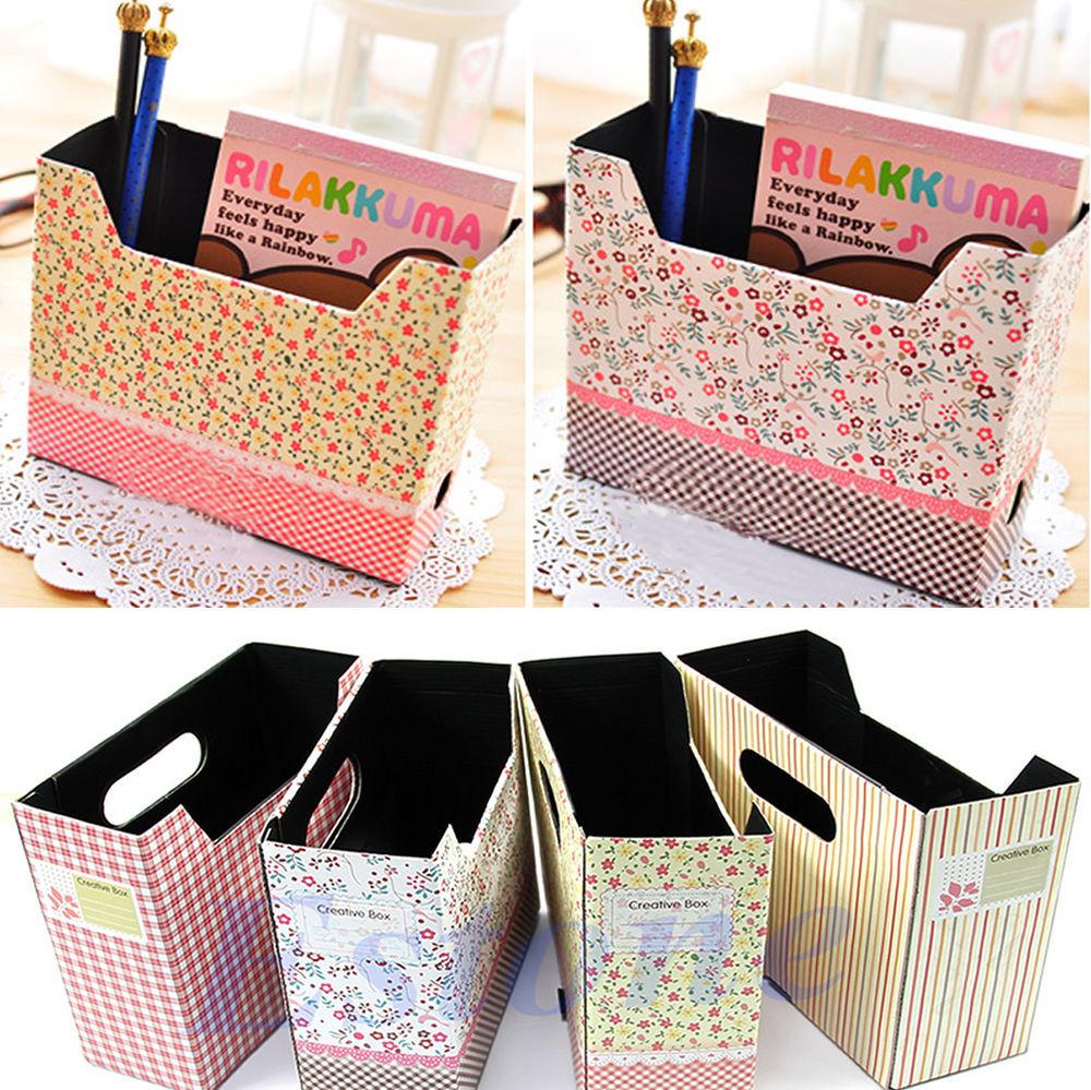 Organizer Diy  DIY Cute Makeup Cosmetic Stationery Paper Board Storage