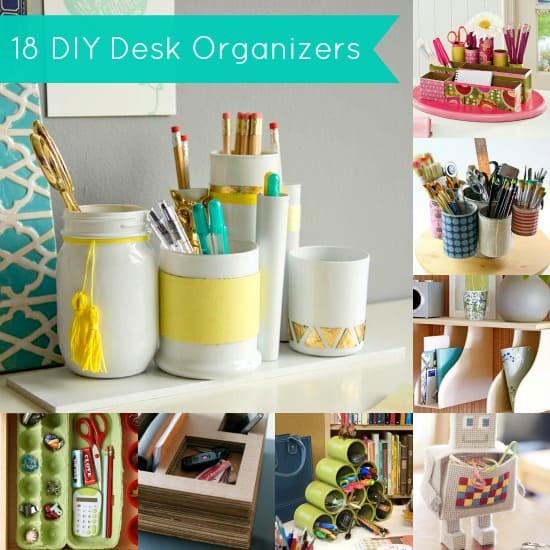 Organizer Diy  DIY Desk Organizer 18 Project Ideas DIY Candy