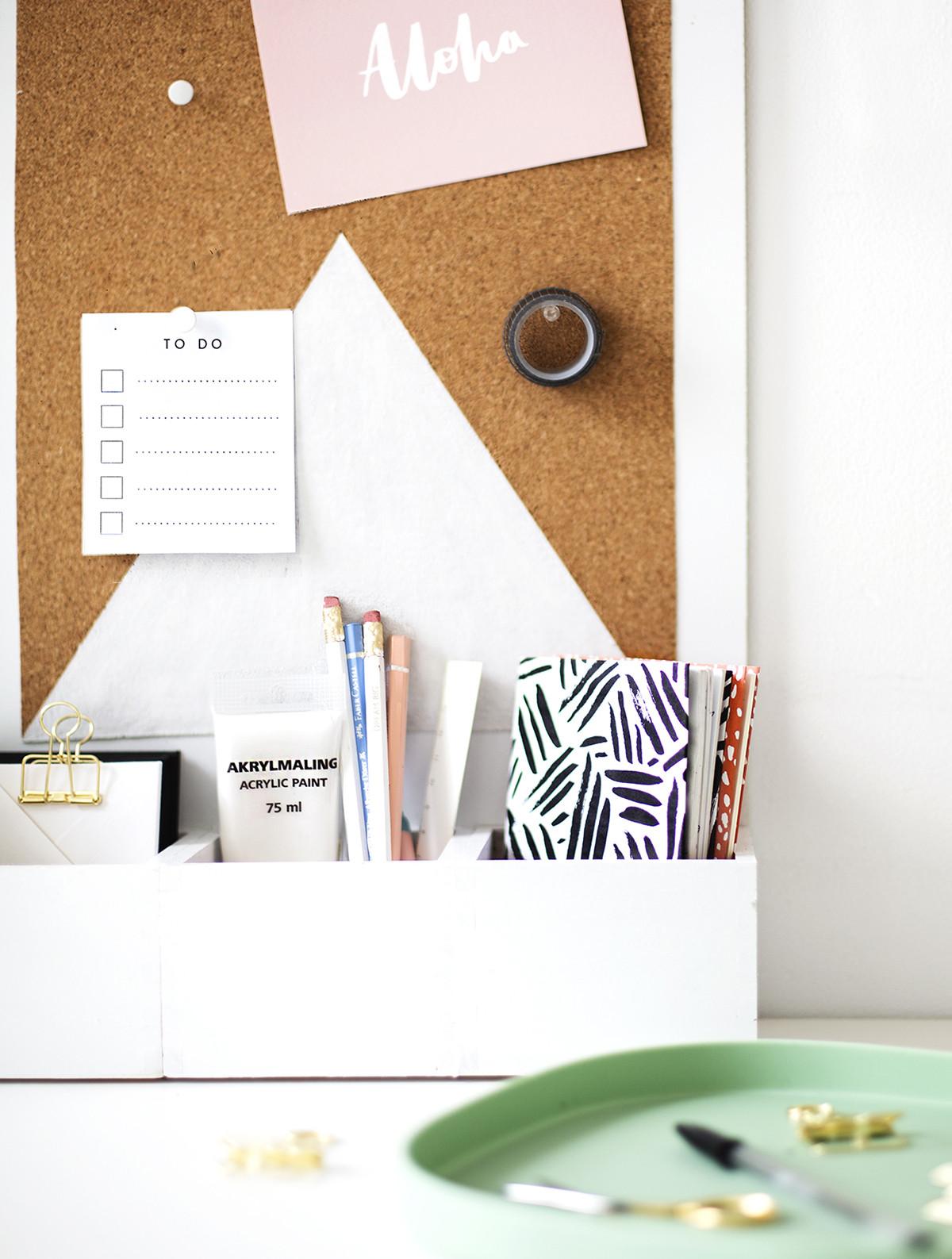 Organizer Diy  DIY Desk Organizer