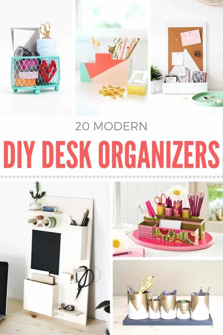 Organizer Diy  How to make a DIY desk organizer Mod Podge Rocks