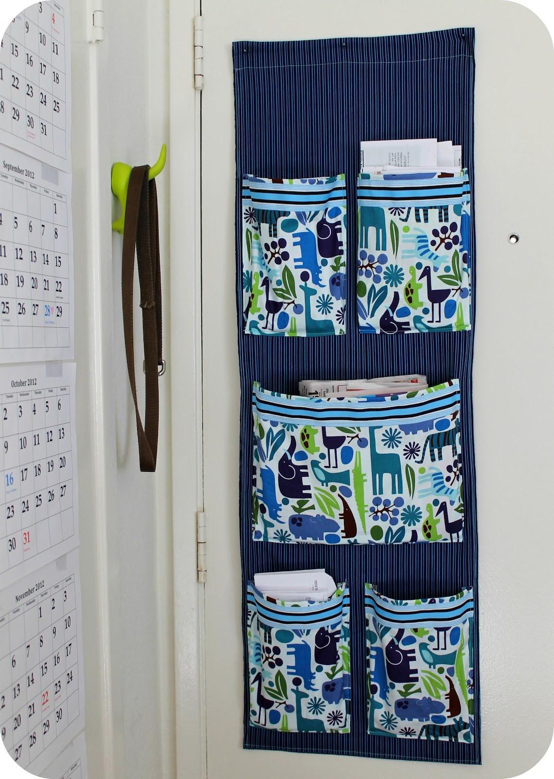 Organizer Diy  DiY Project Sew a Fabric Mail Organizer for the Wall