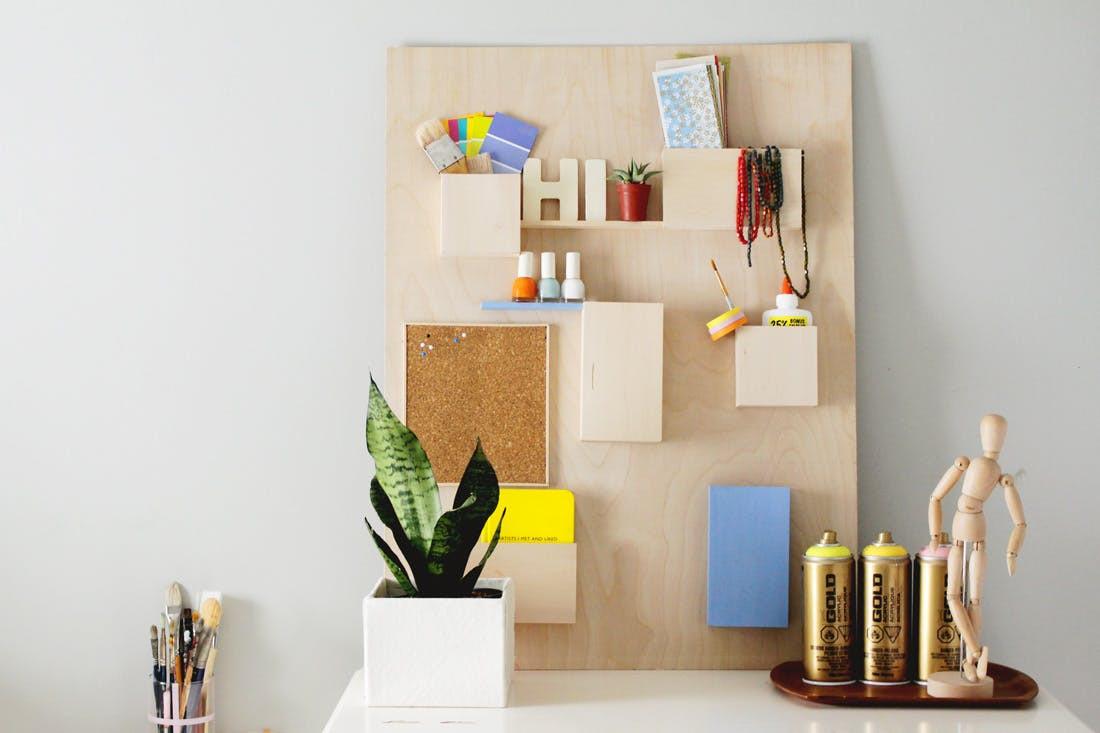 Organizer Diy  DIY This $328 Anthropologie Wall Organizer for Less Than