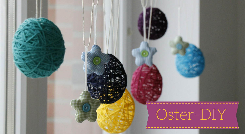 Oster Diy  Oster DIY Idee Ostereier aus Wolle Lavendelblog
