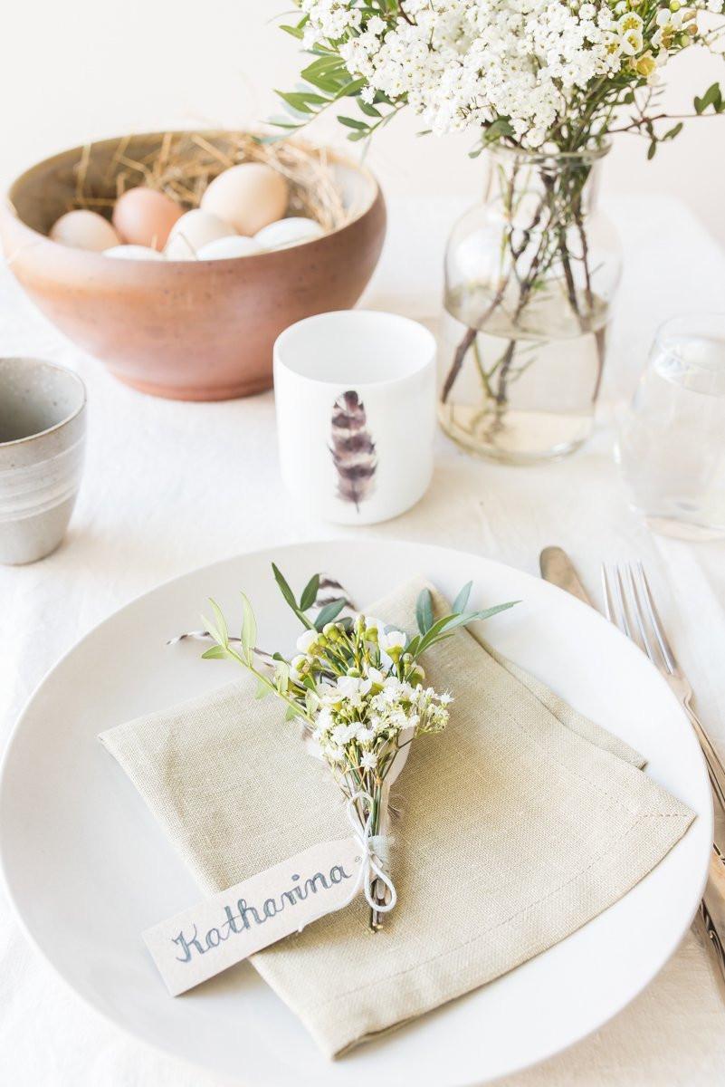 Oster Diy  DIY kleine Blumensträußchen für Oster Tischdeko