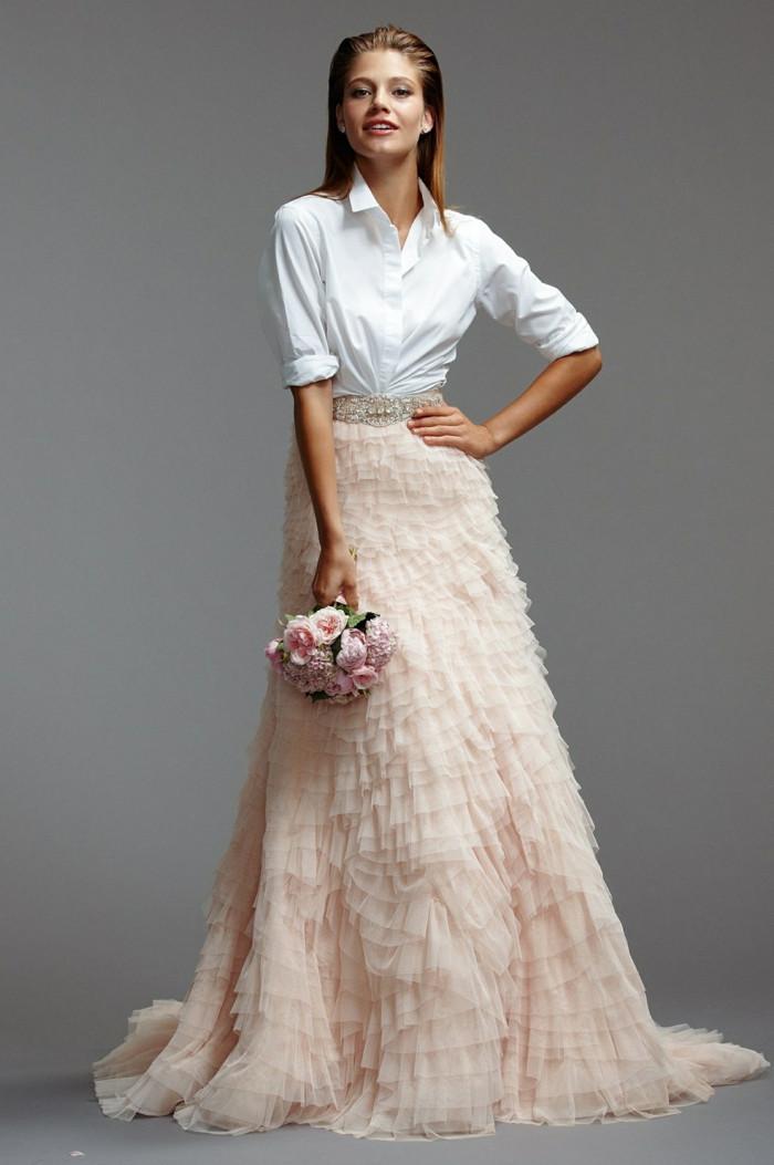 Outfit Hochzeit  Braut Mode Trends Angesagte Outfit Ideen aus zwei Teilen