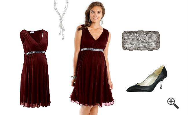 Outfit Hochzeit  Festliche Kleider für Schwangere zur Hochzeit Jasmins