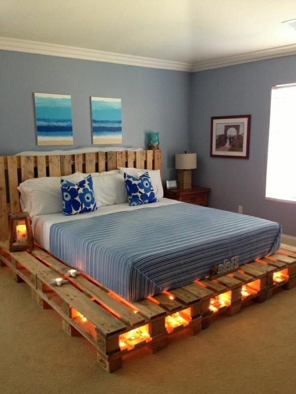 Palettenbett Diy  Bett aus Paletten 32 coole Designs Archzine