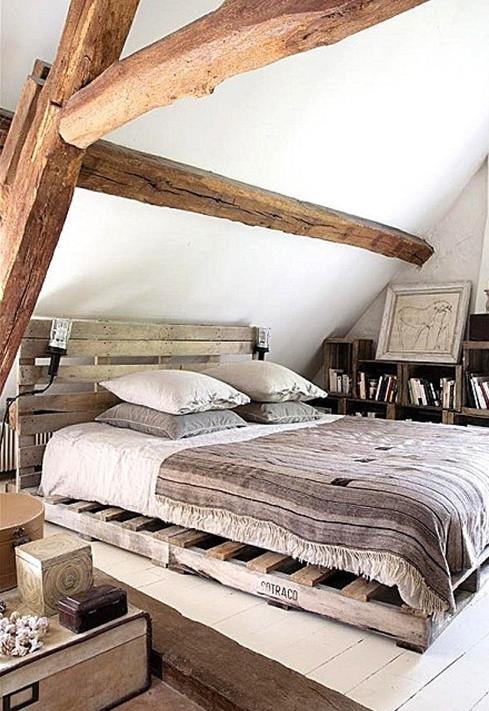 Palettenbett Diy  21 Ideen für Palettenbett im Schlafzimmer fresHouse