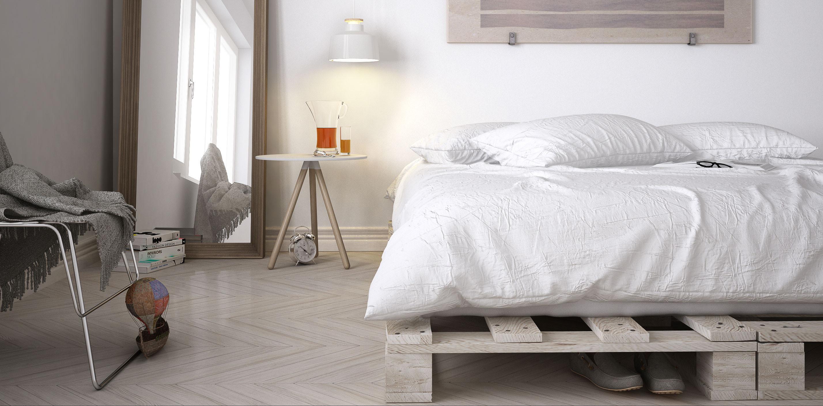 Palettenbett Diy  Palettenbett bauen DIY zum günstigen Single oder Doppelbett