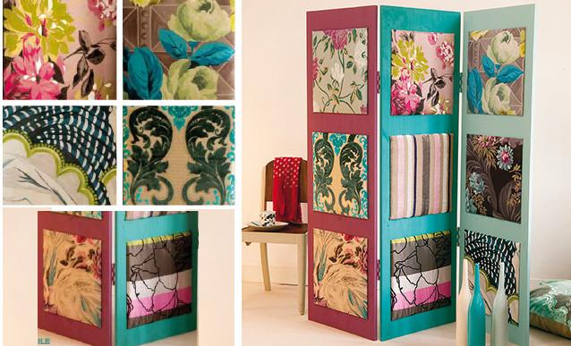 Paravent Diy  DIY construire un paravent décoratif en bois et en tissu