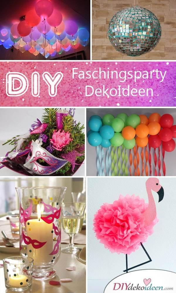 Party Deko Diy Diese DIY Fasching Partydeko Ideen werden dich umhauen