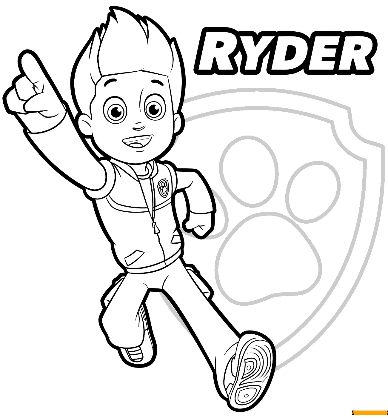 Paw Patrol Ausmalbilder Ryder  Paw Patrol Ryder 1 Coloring Page Free Coloring Pages line