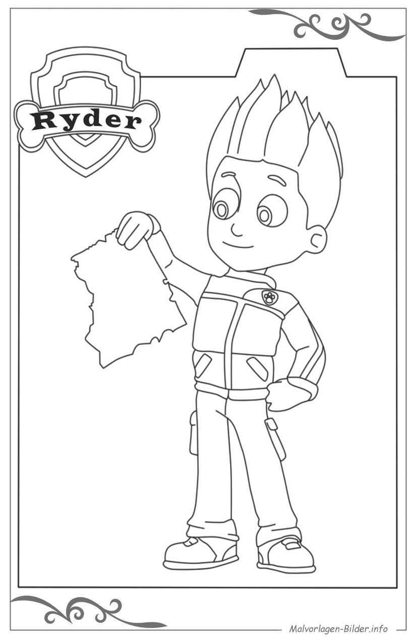 Paw Patrol Ausmalbilder Ryder  Paw Patrol ausmalbilder und malvorlagen von madchen