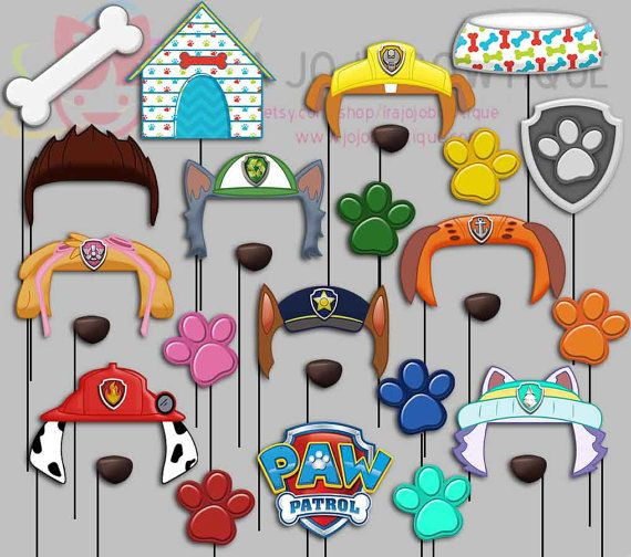 Paw Patrol Geburtstagsparty  Dogs Party Booth Props Paw Patrol Party von