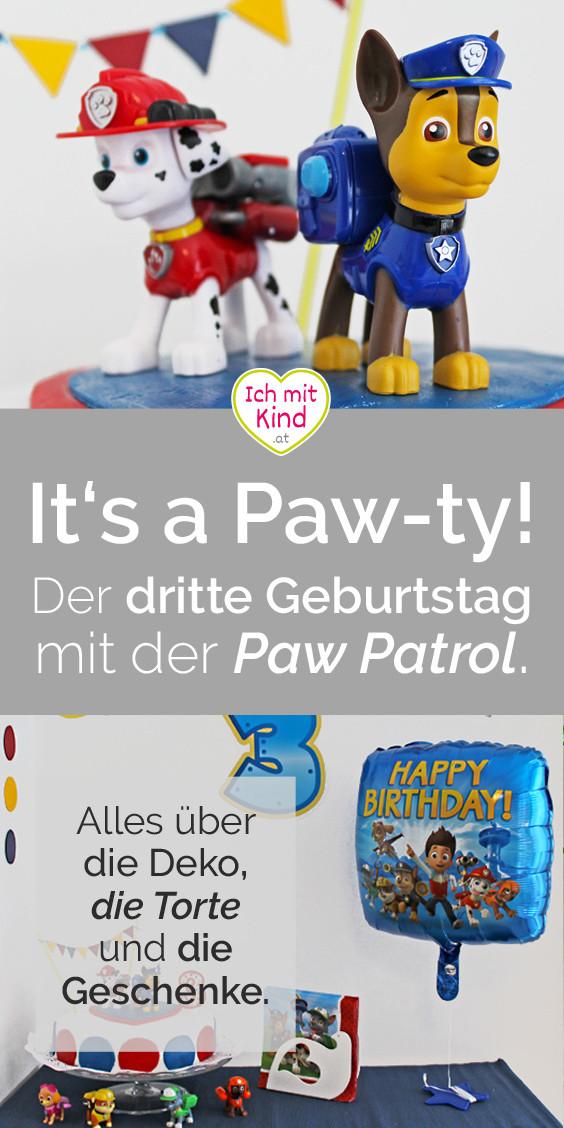 Paw Patrol Geburtstagsparty  It s a Paw ty Der dritte Geburtstag mit der Paw Patrol