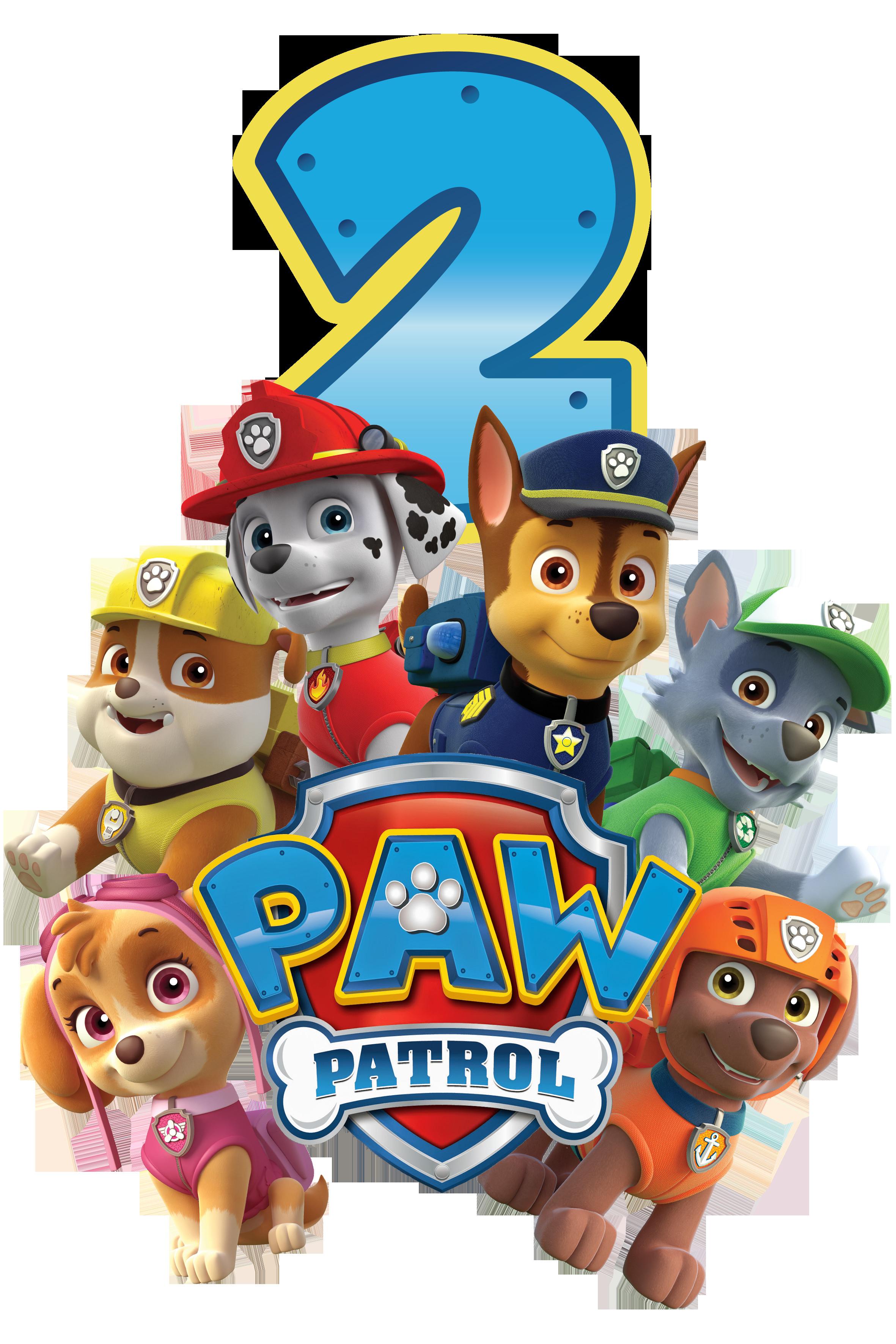 Paw Patrol Geburtstagsparty  It s a Paw ty Paw Patrol Geburtstagsshirt und Buchstaben