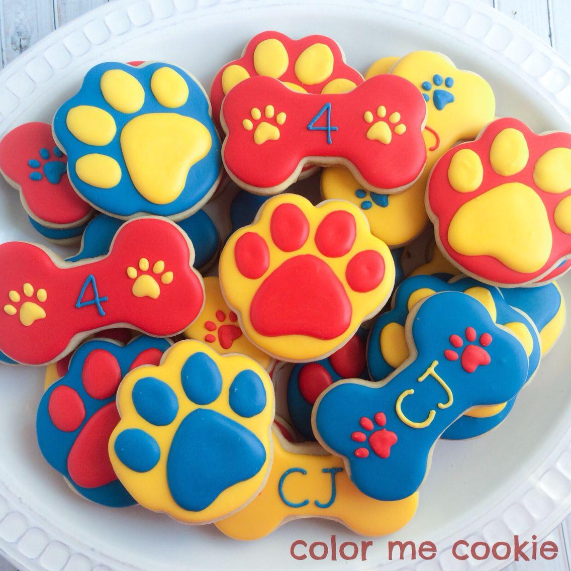 Paw Patrol Geburtstagsparty  Paw patrol themed cookies